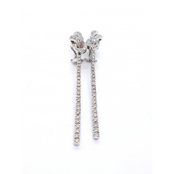 Boucles d'oreilles Pendants Or blanc Diamant